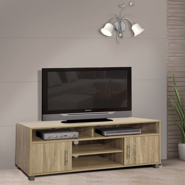 TV шкаф меламин цвят сонама