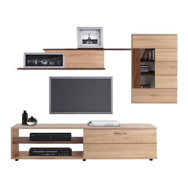 TV мебел Амалфи цвят сонама Орех