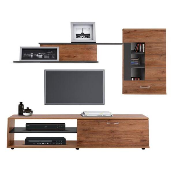 TV мебел Амалфи Мока сив цвят