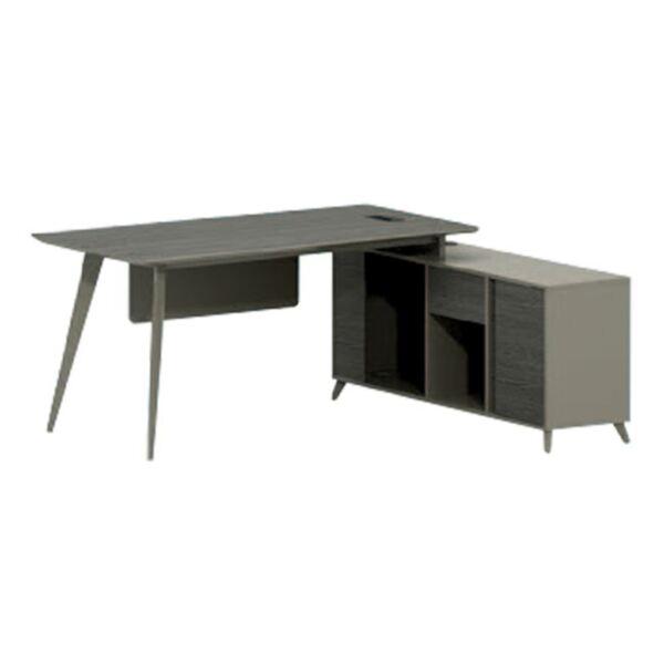 Луксозно офис бюро с ъгъл мока и цвят пепел