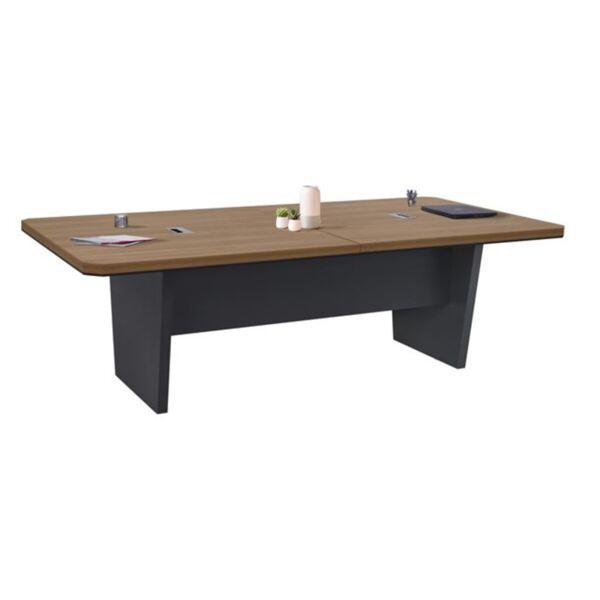 """бюро в цвят дърво"""" и тъмно сиво"""""""