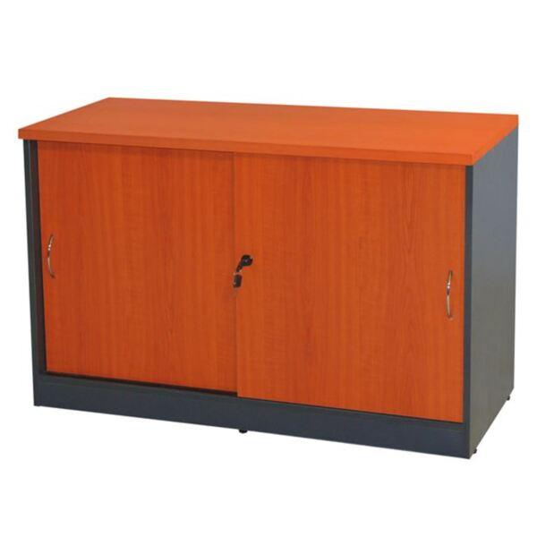 Офис шкаф в цвят череша