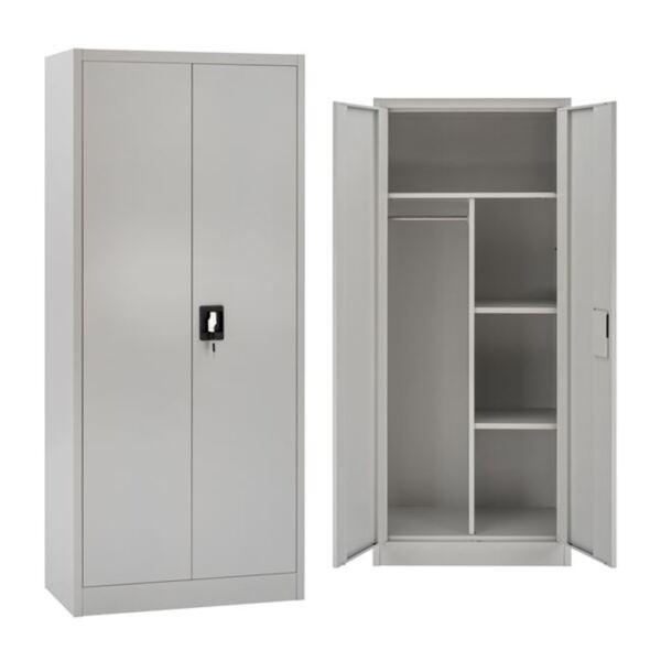 Метален гардероб с пространство за съхранение ( рафтове)