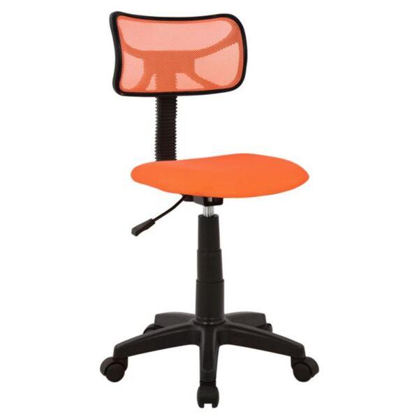 Офис стол Сали оранжев цвят