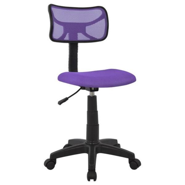 Офис стол Сали лилав плат с мрежа