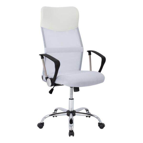 Офис бял стол Mesh хромирани крака