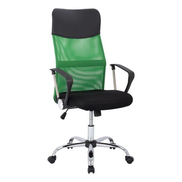 Офис черен стол Mesh хромирани крака