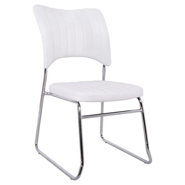 Посетителски бял стол