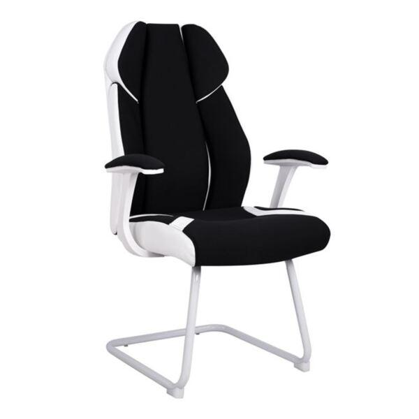 Посетителски офис стол в черно и бяло