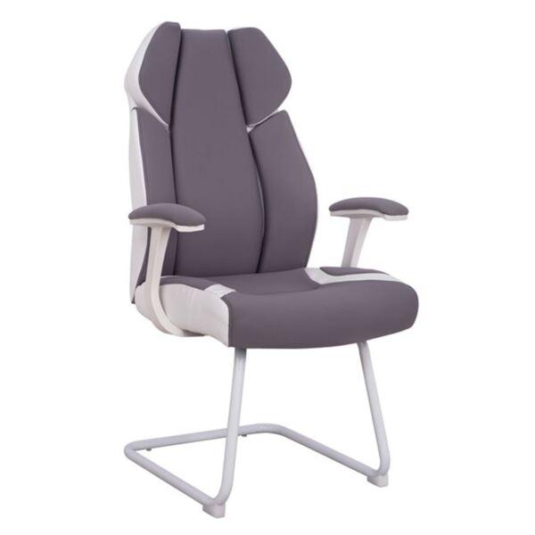 Посетителски стол цвят сив