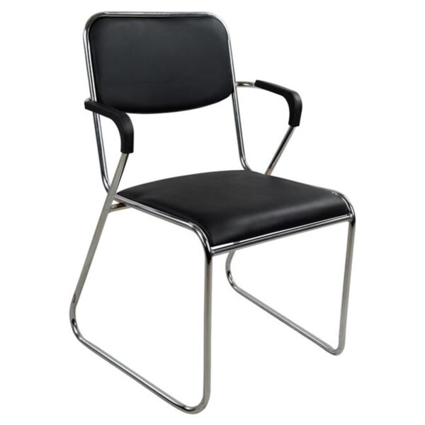 Посетителски черен стол