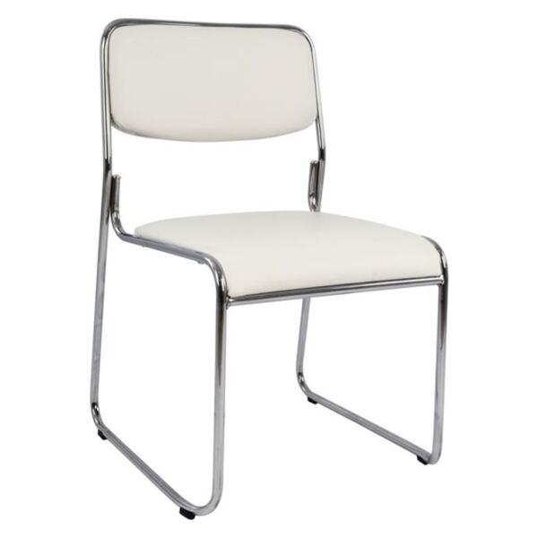 Посетителски офис бял стол цвят