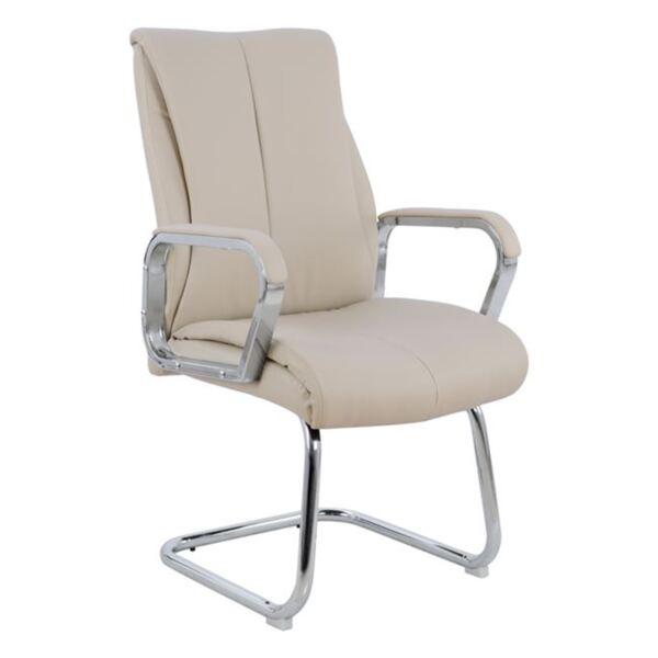Посетителски стол в цвят крем