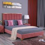 Спалня Авиньон King с кадифе плат в розов цвят