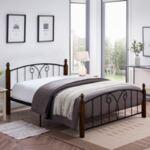 Двойно Спалня Сузи за матракMetal Wood