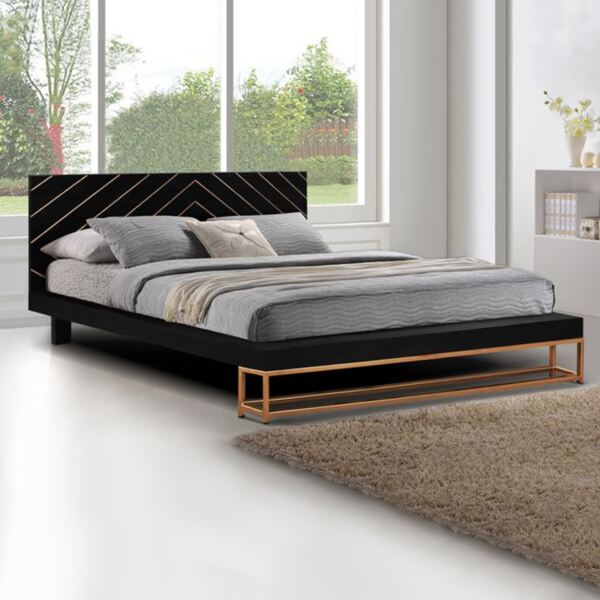 Спалня Шери от масивно мангово дърво с метални крака