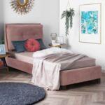 Спалня Райли с плат кадифе плат розов цвят