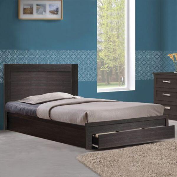 Спалня Melany с едно чекмедже цвят Зебрано