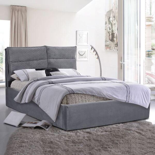 Спалня oyalty King Size с сиво кадифе плат