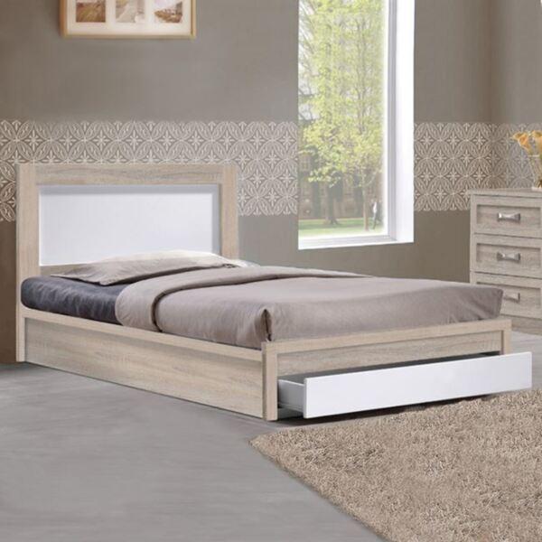 Спалня Melany с чекмедже цвят сонама / бял