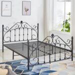 Метална спалня в черен цвят