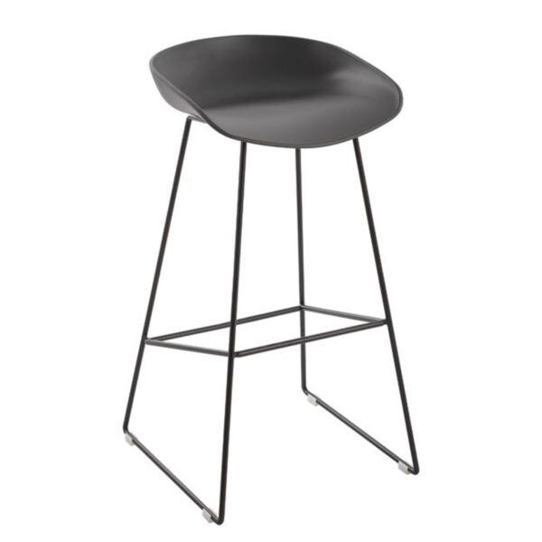 Метален стол със сива PP седалка