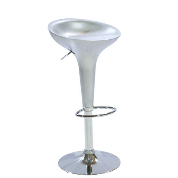 Бар стол Дейзи Gasift в сребърен цвят
