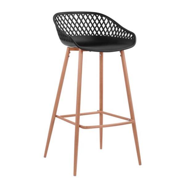 Полипропиленов стол с метални крака черен Avaya