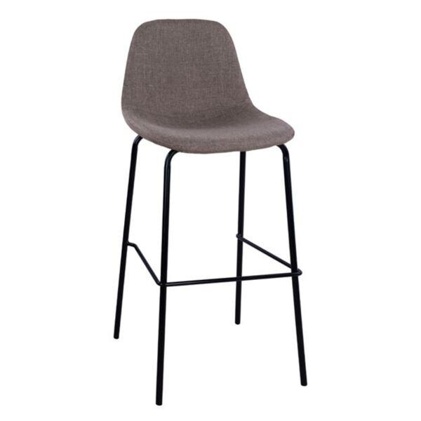 Стол с метална основа и повърхност в кафяв цвят