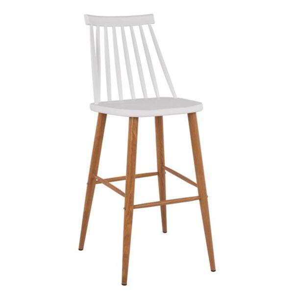 Бар стол Ванеса с бял цвят