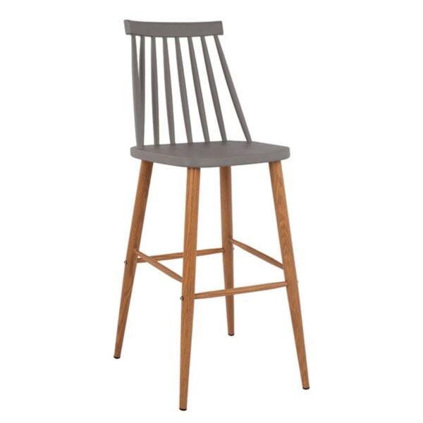 Бар стол Ванеса в сив цвят