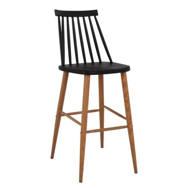 Бар стол Ванеса в черен цвят