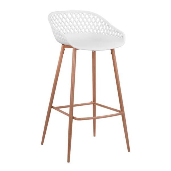 Полипропиленов бял стол с метални крака Avaya