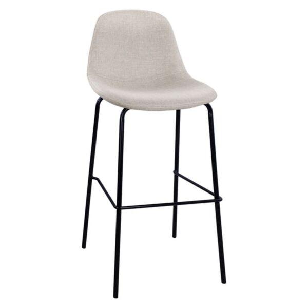 Стол с метална основа и повърхност в бежов цвят