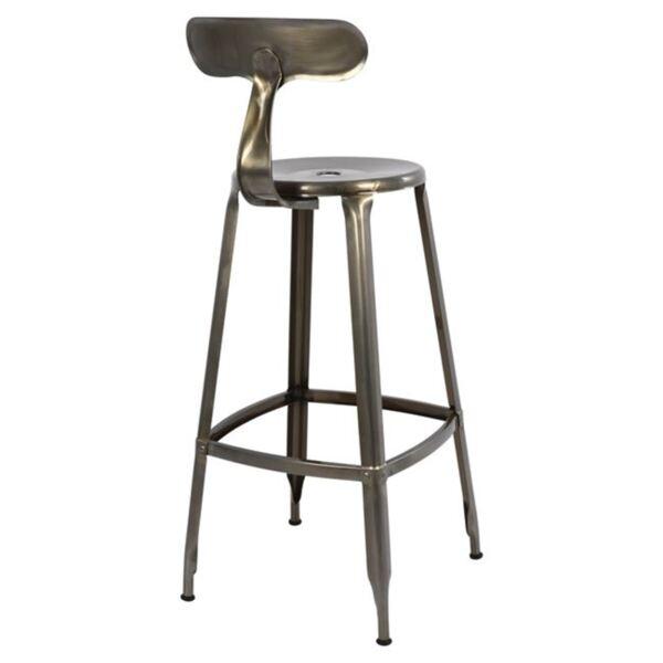 """Метален бар стол цвят дърво"""""""""""