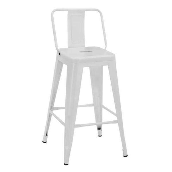 Бар стол Илияна - бял мат