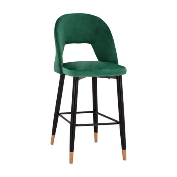 Бар стол Харпър кадифе с метална рамка