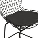 Метален бар стол Манон в черен цвят PU
