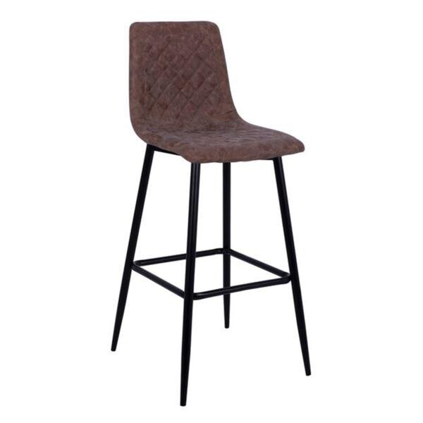 Бар стол Jonas метал с кафяв PU