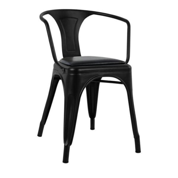 Кресло Илияна в черен цвят от PU