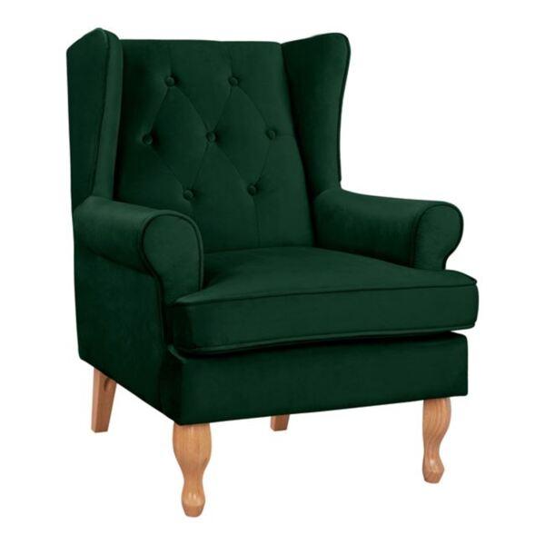 Кресло в зелен цвят Брандън
