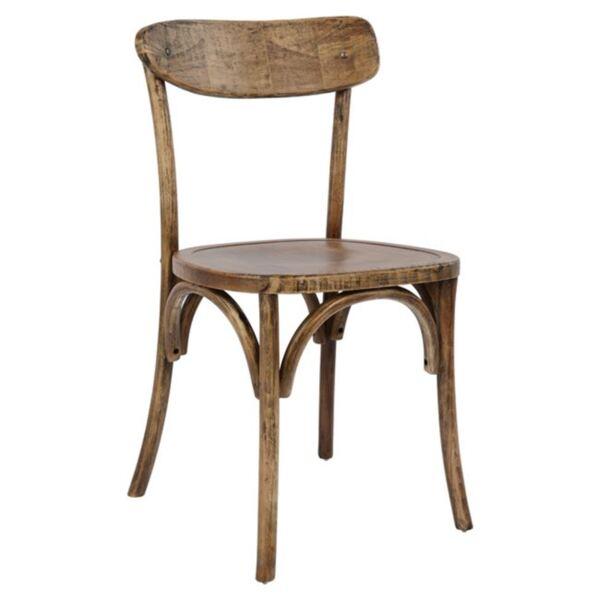 Дървен стол с дървена седалка