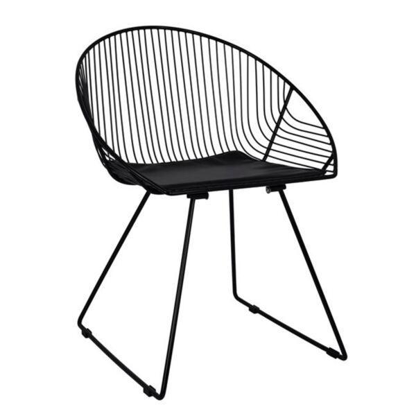 Метален стол Curve в черен цвят