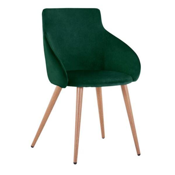 Кресло Ivy кадифе Грийн с метални крака