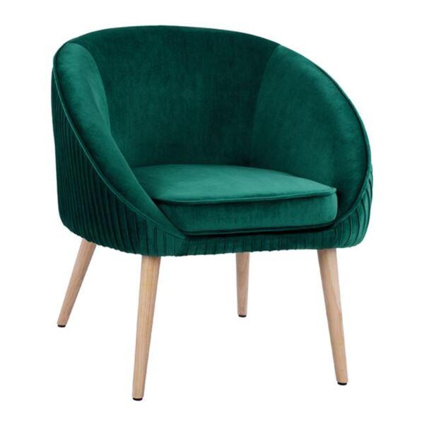 Кресло Yajanti зелено кадифе