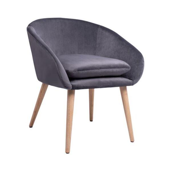 Кресло Ели сиво кадифе