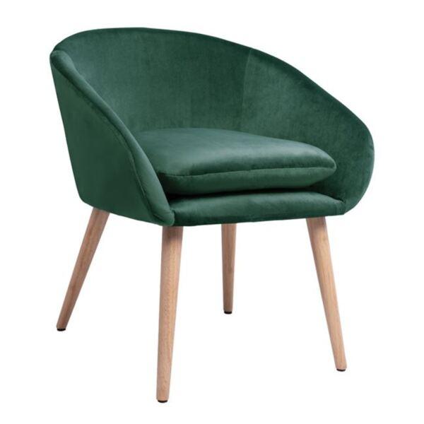 Кресло Ели в зелено кадифе