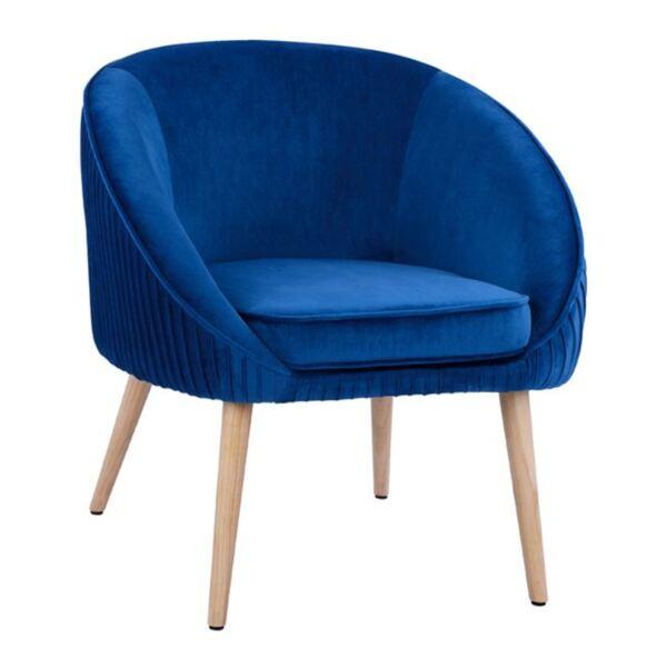 Кресло Yajanti синьо кадифе