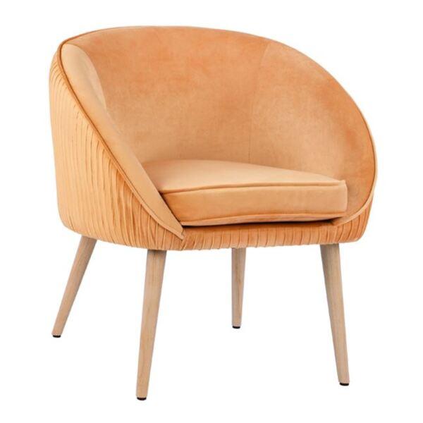 Кресло Yajanti от златно кадифе