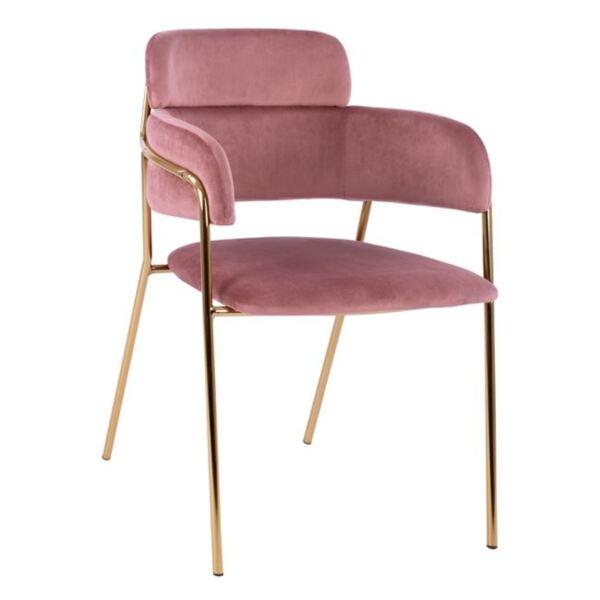 Кресло Келсо розово кадифе